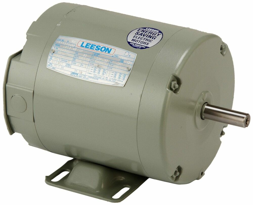 Leeson electric motor c6t34nb18d 3 4 hp 3450 rpm for Dc motor 1 3 hp