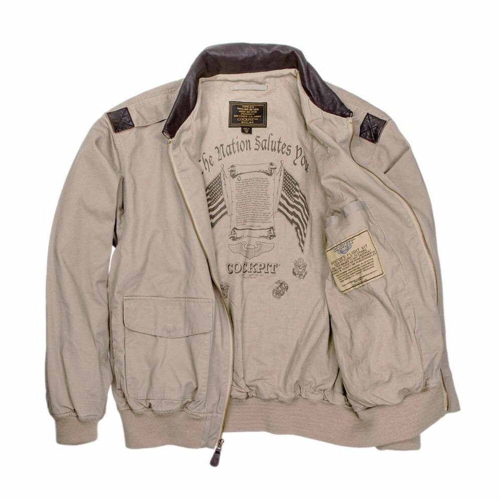 A2 leather flying jacket