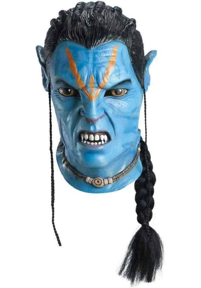 Details about Jake Sully Mask Avatar Na'vi Alien Fancy Dress Halloween Adult  Costume Accessory