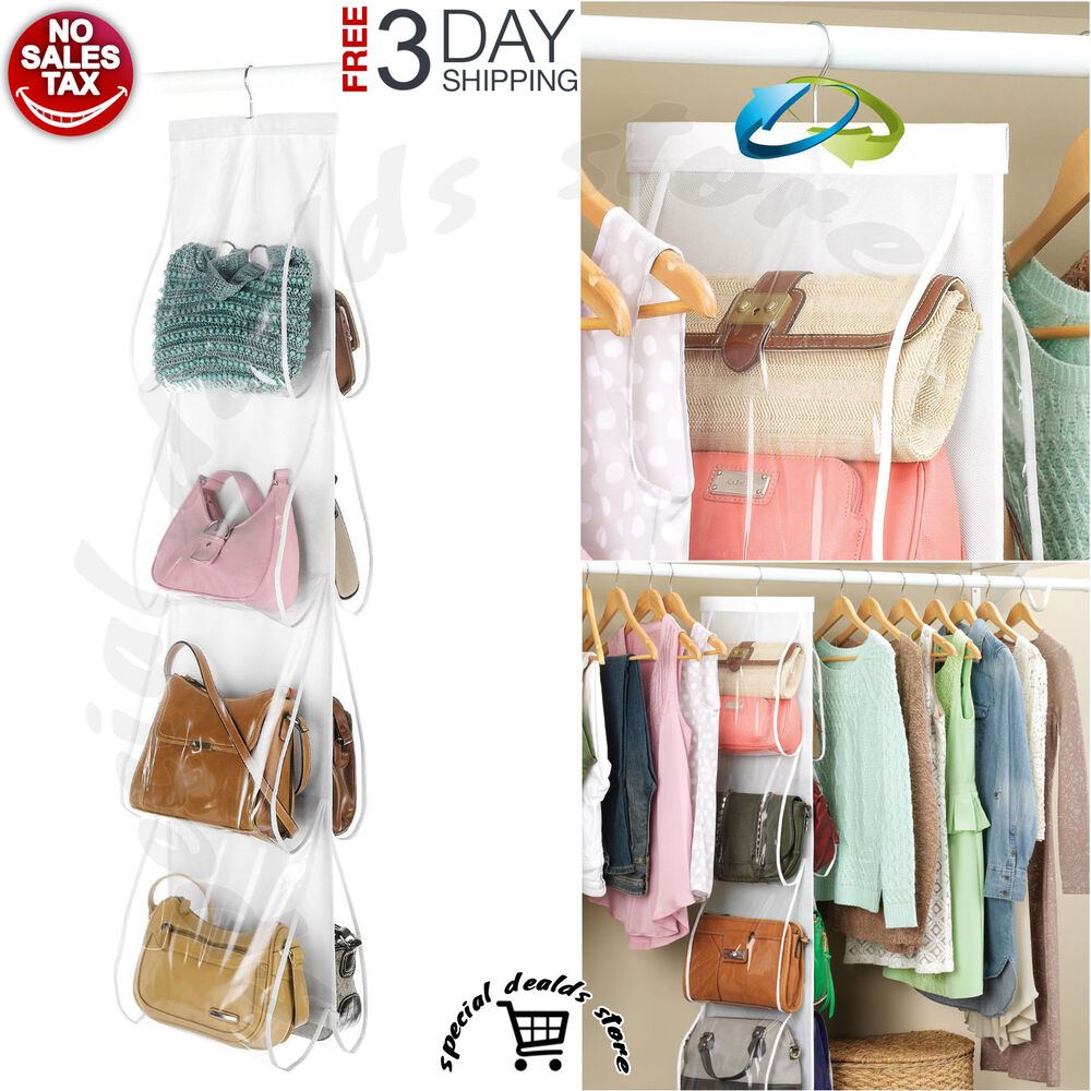 Handbag file purse organizer hanger closet display 8 - Closet organizer for purses ...