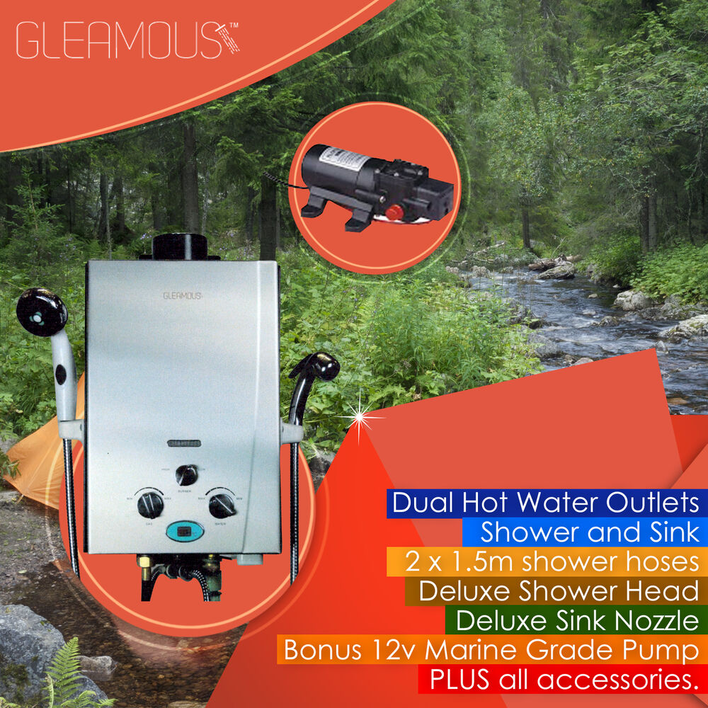 Instant Lpg Portable Gas Hot Water Camp Shower Heater 4wd