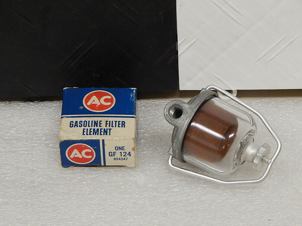 Nos Ac Delco Glass Bowl Fuel Filter With Element 1956