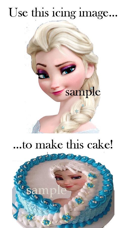 Elsa Edible Cake Decoration : Frozen ELSA Head CAKE Decoration Topper Edible ICING Image ...