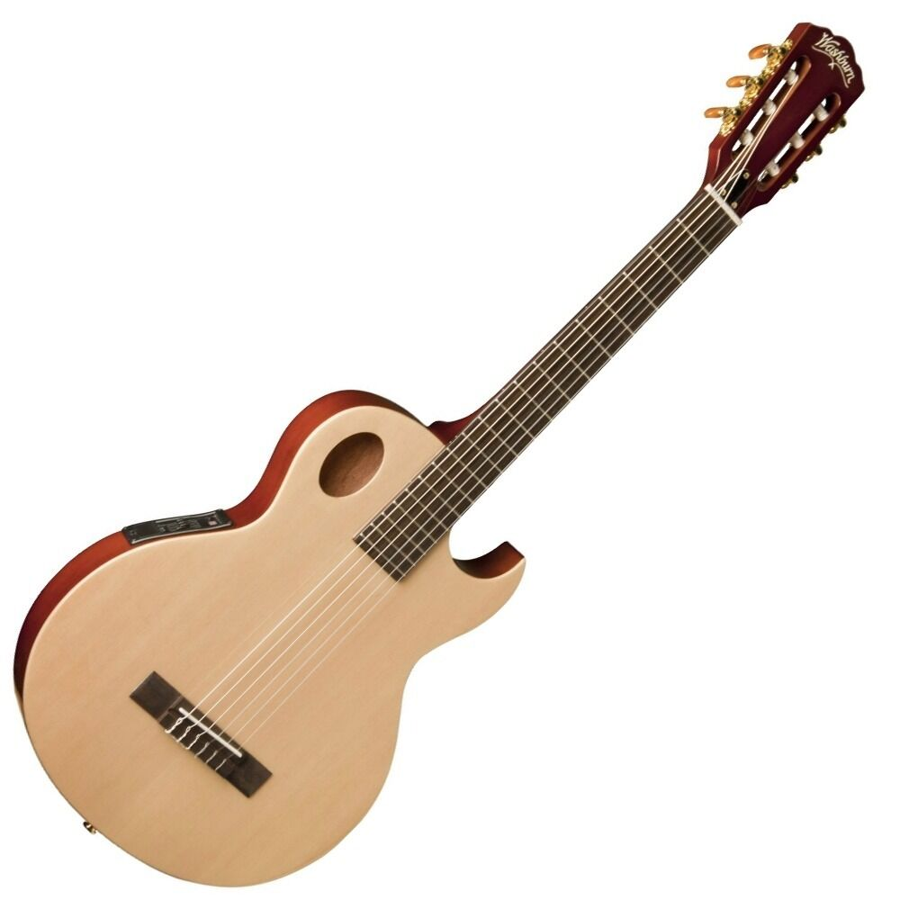 washburn usm eact42s festival series mahogany acoustic electric guitar natural ebay. Black Bedroom Furniture Sets. Home Design Ideas