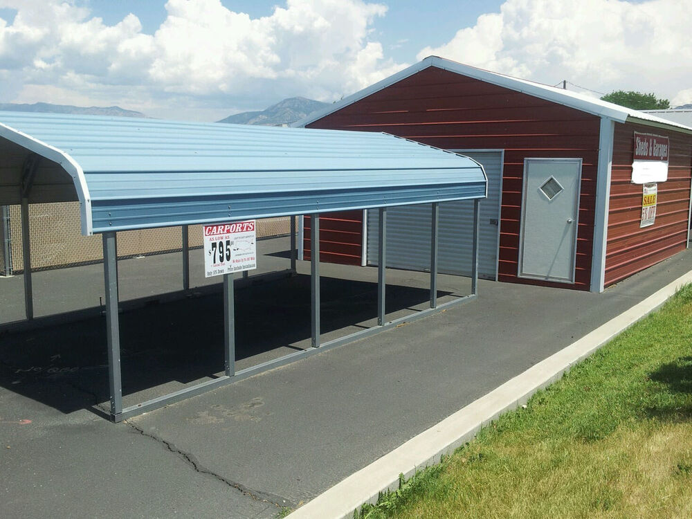 Metal carports buildings garages ebay for Carport garages