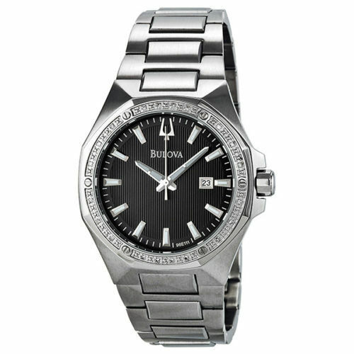 new bulova 96e111 bezel engraved black