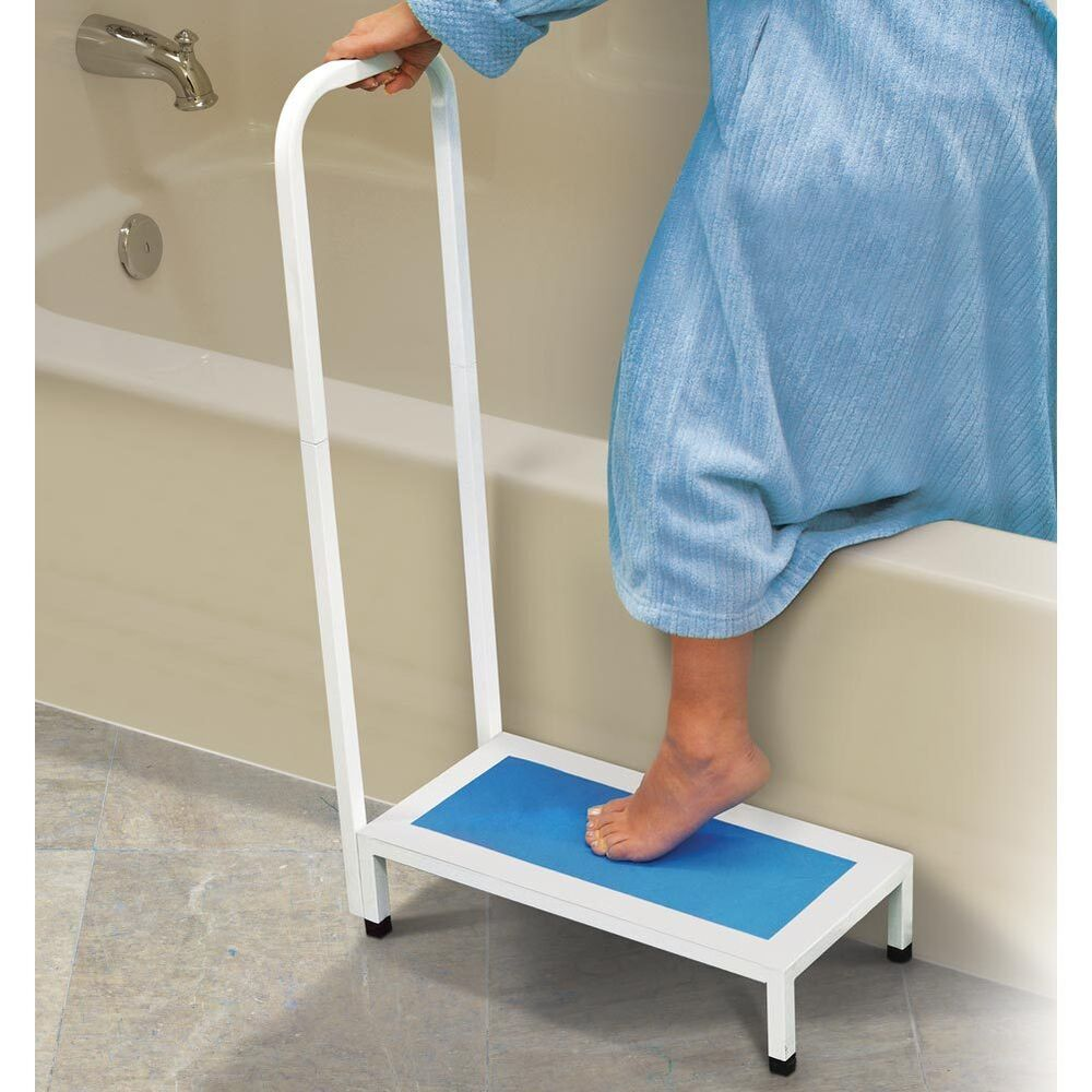 Bathtub Amp Shower Step Stool With Handle Amp Non Slip Grip