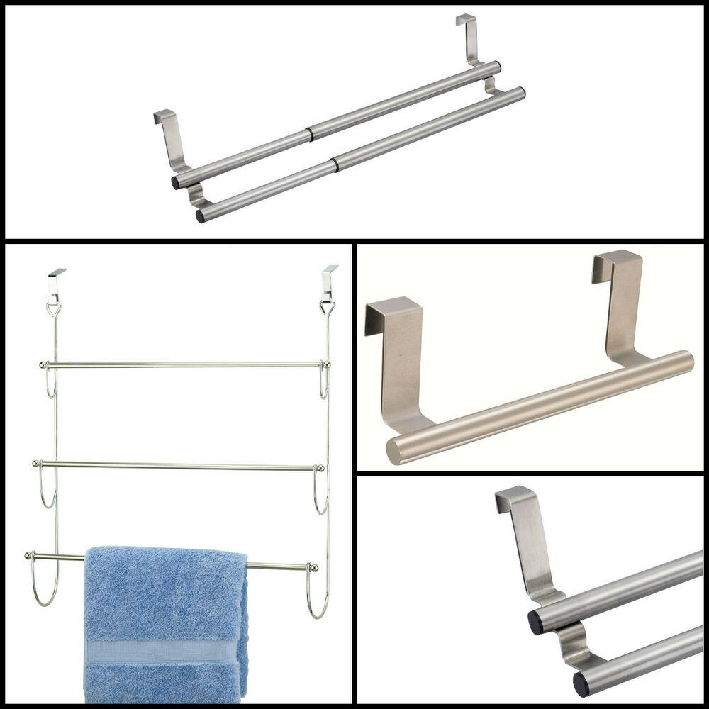2 3 Tier Overdoor Bathroom Kitchen Towel Steel Chrome