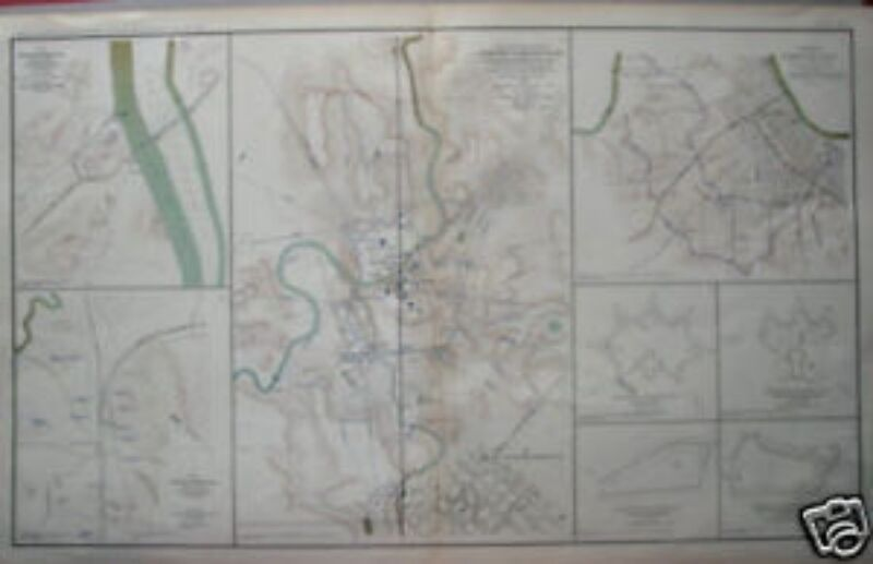 Tennessee Amp Alabama Civil War Maps Antique 1861  1865  EBay