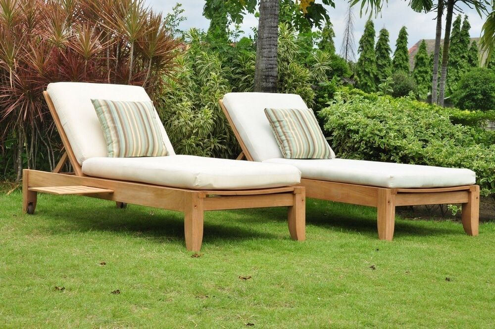 Atnas 100% Teak Outdoor Garden Patio Steamer Armless Sun