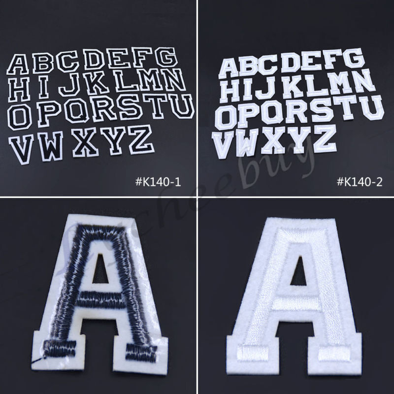 26 letters a z embroidered iron on patches applique diy for Diy iron on letters for clothing