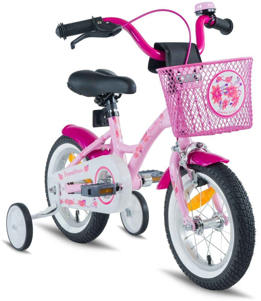 prometheus kinderfahrrad 12 zoll rosa m dchen pink mit. Black Bedroom Furniture Sets. Home Design Ideas