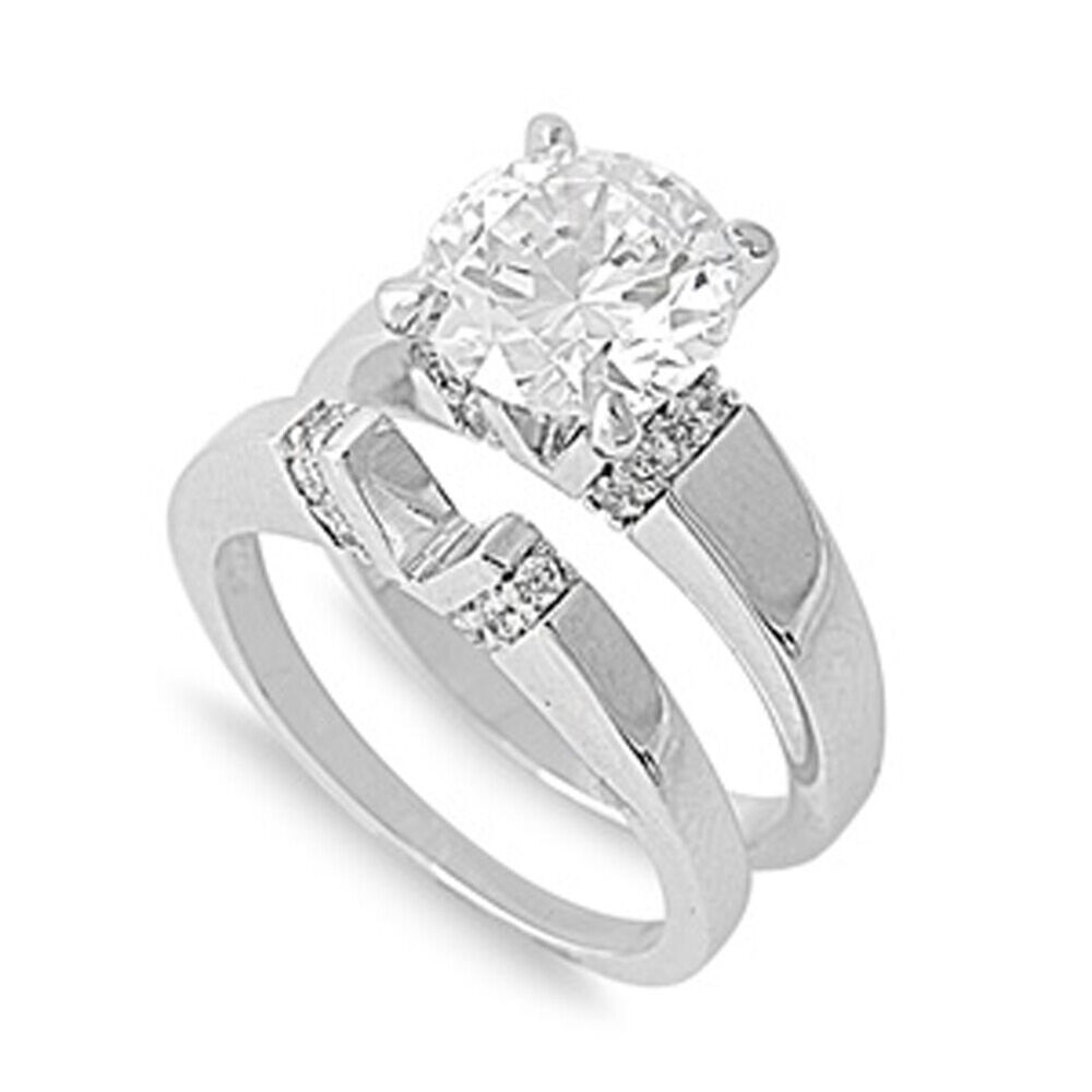 Hand Crafted Wedding Rings: Sterling Silver Custom Engagement Ring Wedding Band Bridal