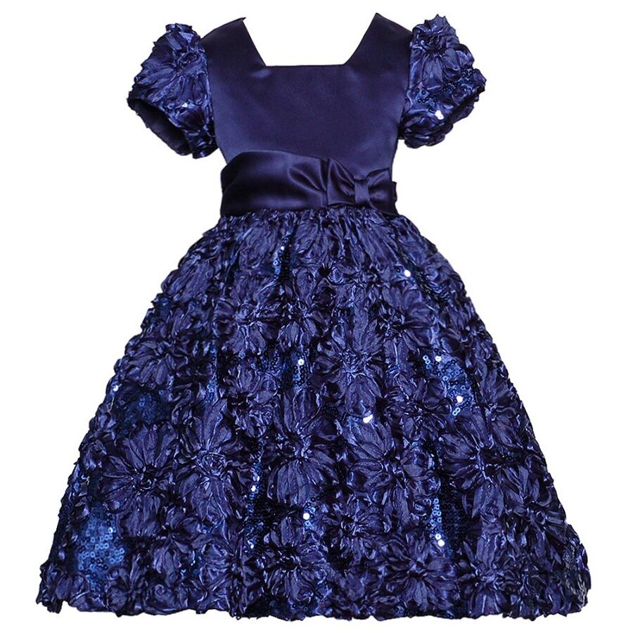 Dresses christmas for girls blue pictures