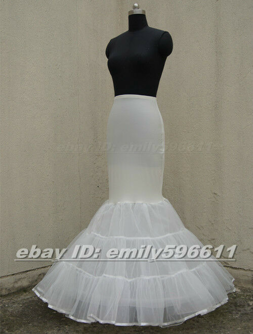 Lycra tulle ivory mermaid trumpet style wedding gown for Tulle petticoat for wedding dress
