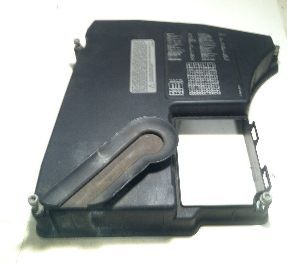 1997 2001 bmw 740il e38 ecu fuse box panel cover under hood 1997 2001 bmw 740il e38 ecu fuse box panel cover under hood oem part