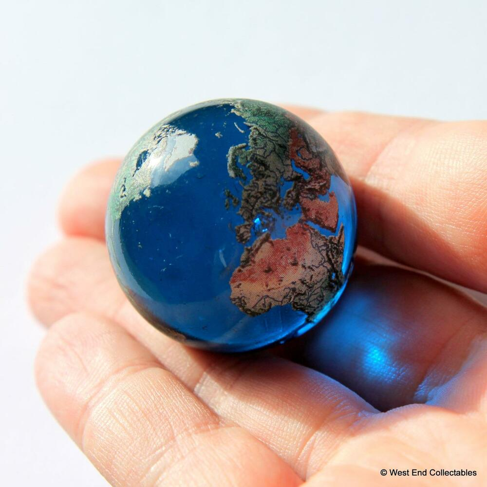 Giant 35mm Planet Earth Globe Marble Detailed Glass