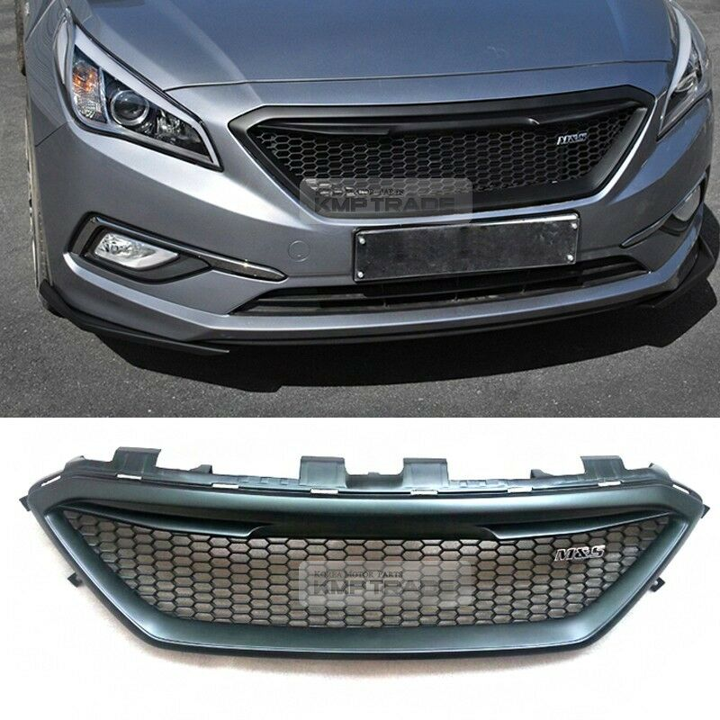 Details About Honeycomb Hood Radiator Grille Unpainted For Hyundai 2017 Sonata Lf I45