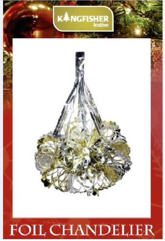 Foil Chandelier Christmas Garland Decoration Ceiling