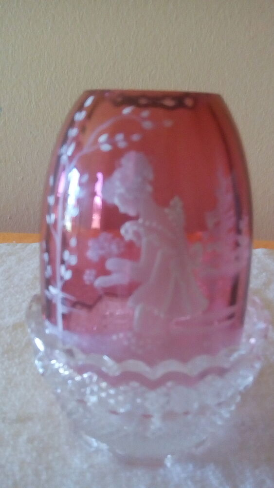 fenton glass  cranberry mary gregory