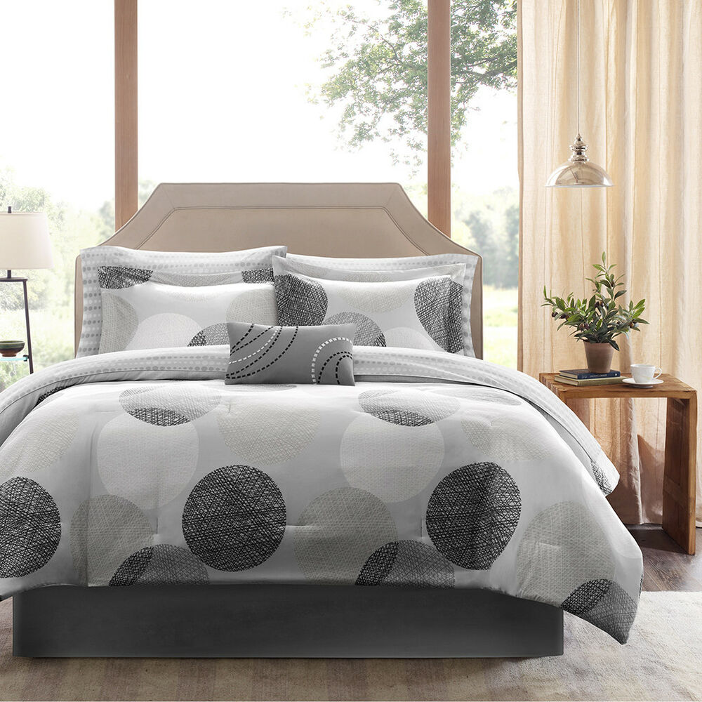 beautiful modern chic soft pink teal blue grey girl floral flower comforter set ebay. Black Bedroom Furniture Sets. Home Design Ideas