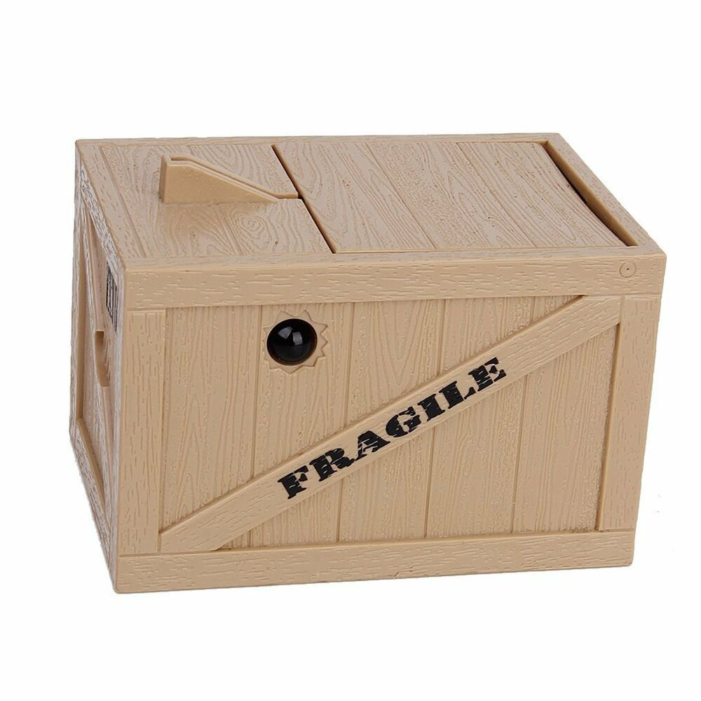 Cat in the box coin piggy bank paw hand automatic stealing money saving box ebay - Coin stealing cat piggy bank ...
