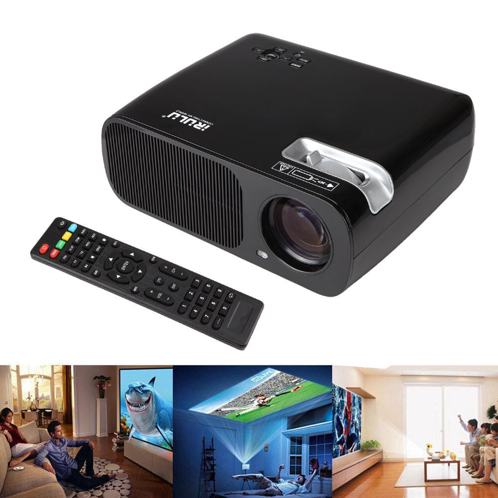 Led Lcd Projector X7 Home Cinema Theater Multimedia Led: IRULU BL-20 HD 1080P LED LCD Projector Home Cinema HDMI