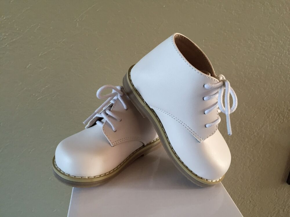 walking toddler shoes white leather boy us size 3