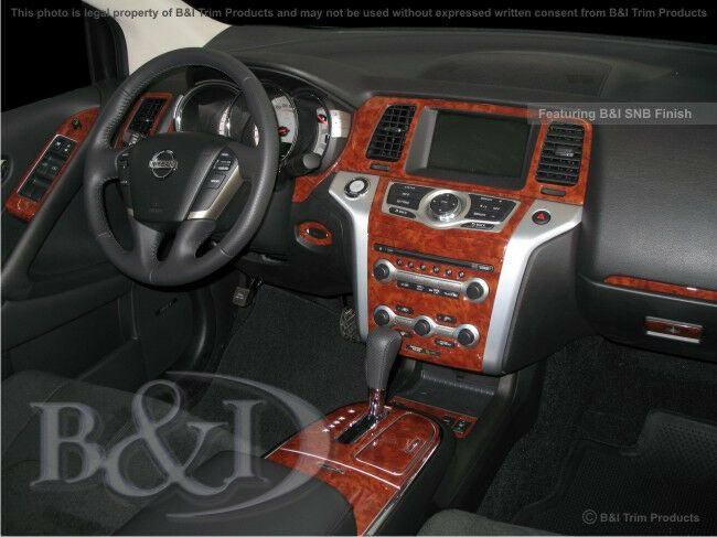 nissan murano wood grain dash kit dark burlwood fits base radio only 2009 2014 ebay. Black Bedroom Furniture Sets. Home Design Ideas