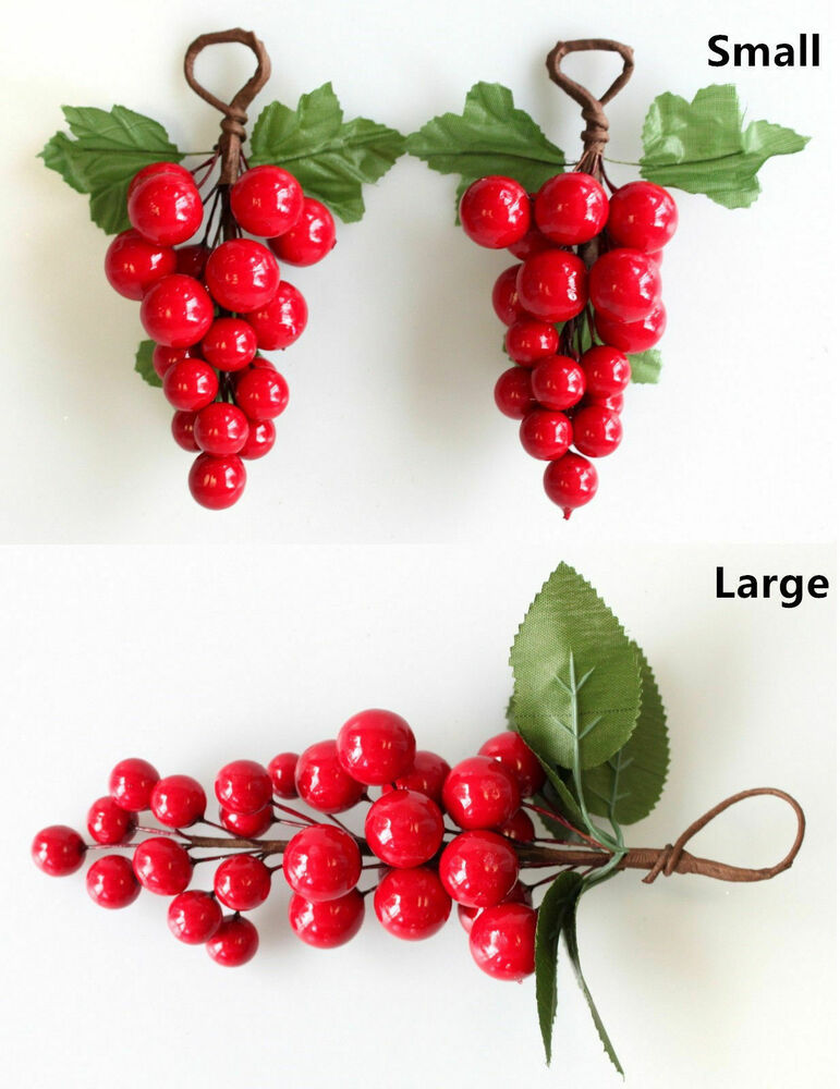 3-6 x Christmas Red Berry Pick Holly Branch Wreath ...
