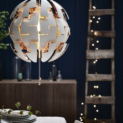 Ikea Ps 2014 Pendant Lamp Like The Death Star White Silver: IKEA PS 2014 Pendant Lamp Chandeliers Ceiling Light White