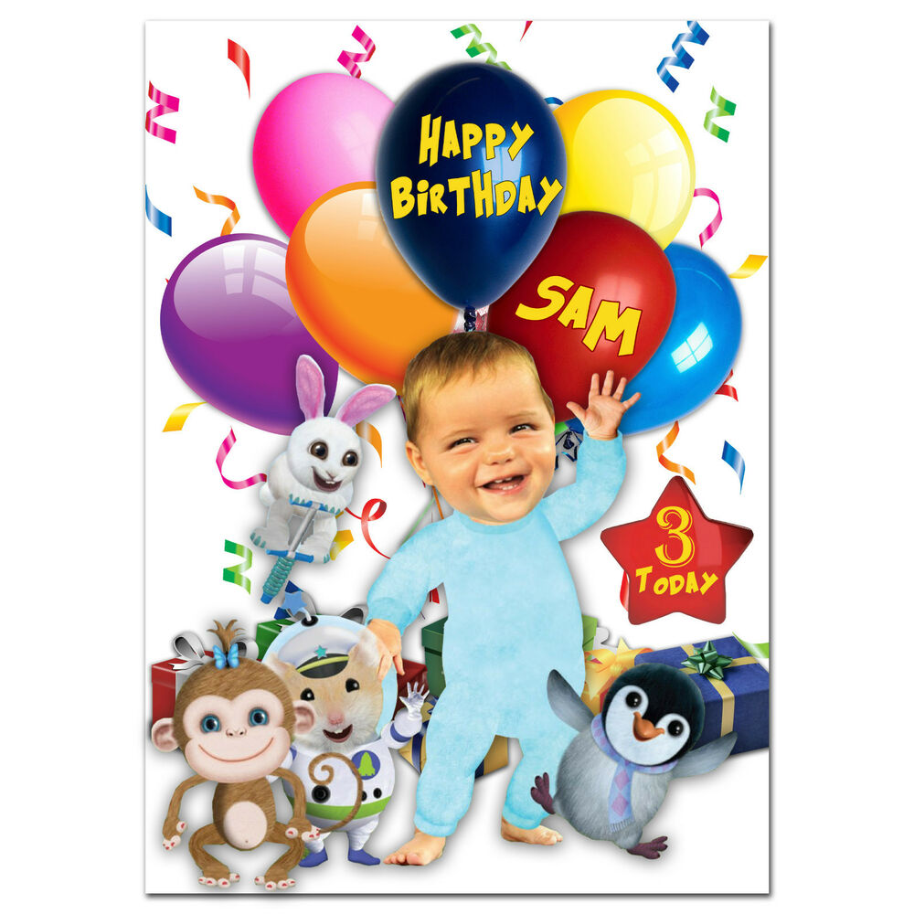 736 large personalised birthday card baby jake for any