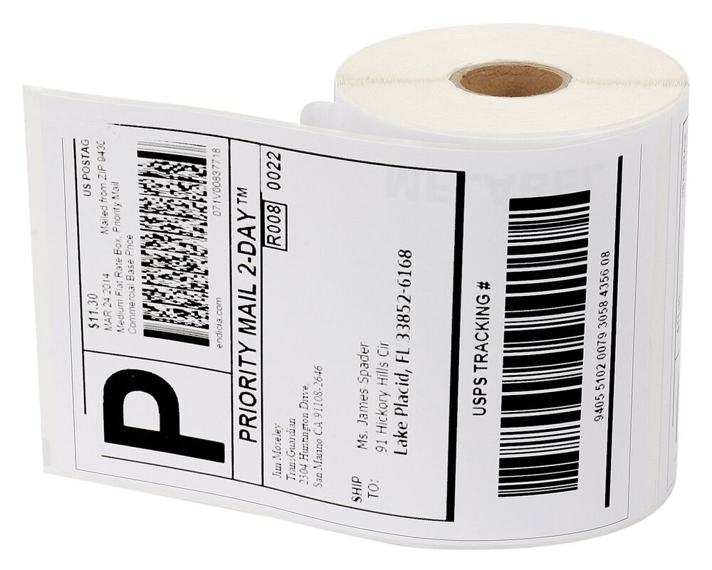 Wholesale 1 20 roll dymo 4xl compatible 4x6 thermal labels for Dymo 4x6 label printer