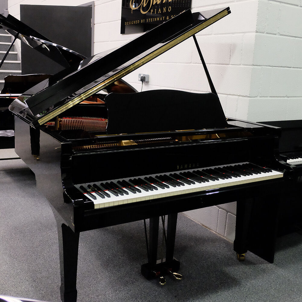 Yamaha baby grand piano g1 polished black ebay for Yamaha g1 piano