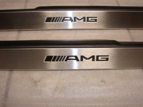 Mercedes benz s class genuine amg door sills step pad set for Mercedes benz door sill