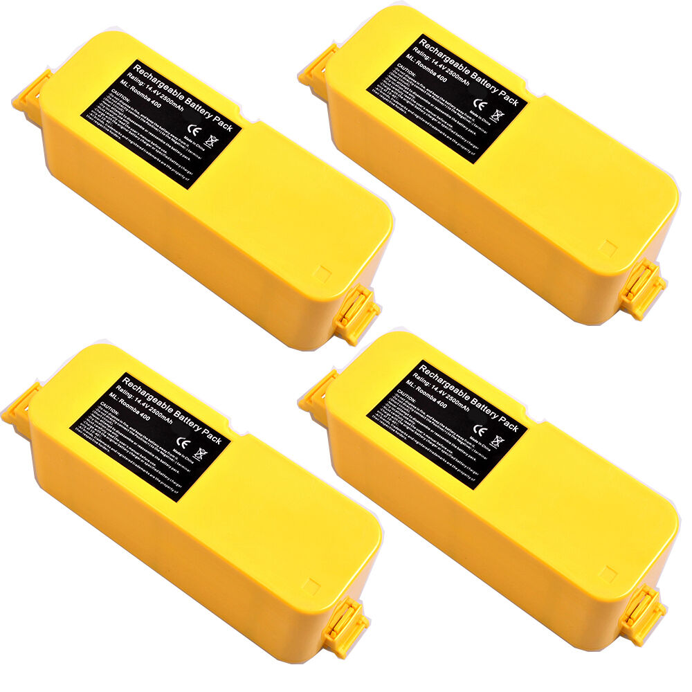 4x 2500mah vacuum battery for irobot roomba 400 series 4000 4100 4110 4130 aps ebay. Black Bedroom Furniture Sets. Home Design Ideas