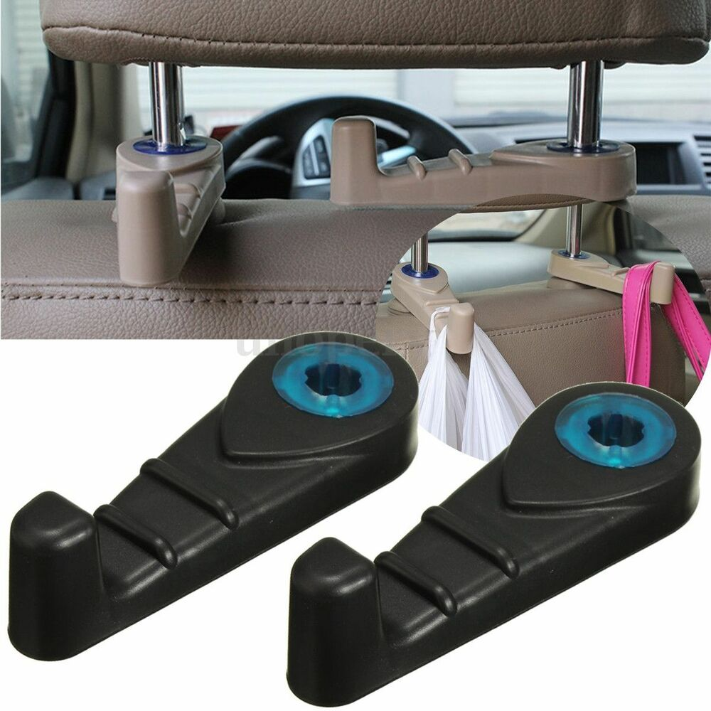 2x car seat truck coat hook purse bag hanging hanger auto bag organizer holder ebay. Black Bedroom Furniture Sets. Home Design Ideas