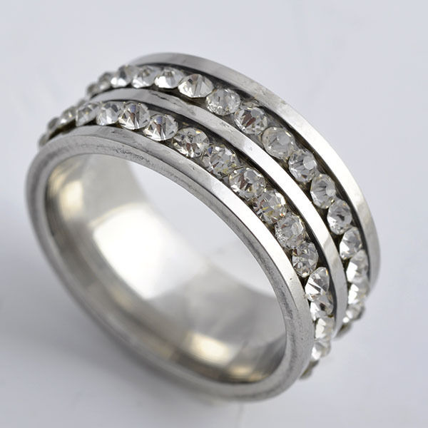womens stainless steel wedding rings silver band