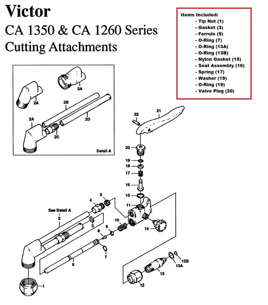 Montana Tractor Parts Lookup : Victor ca cutting torch large rebuild repair