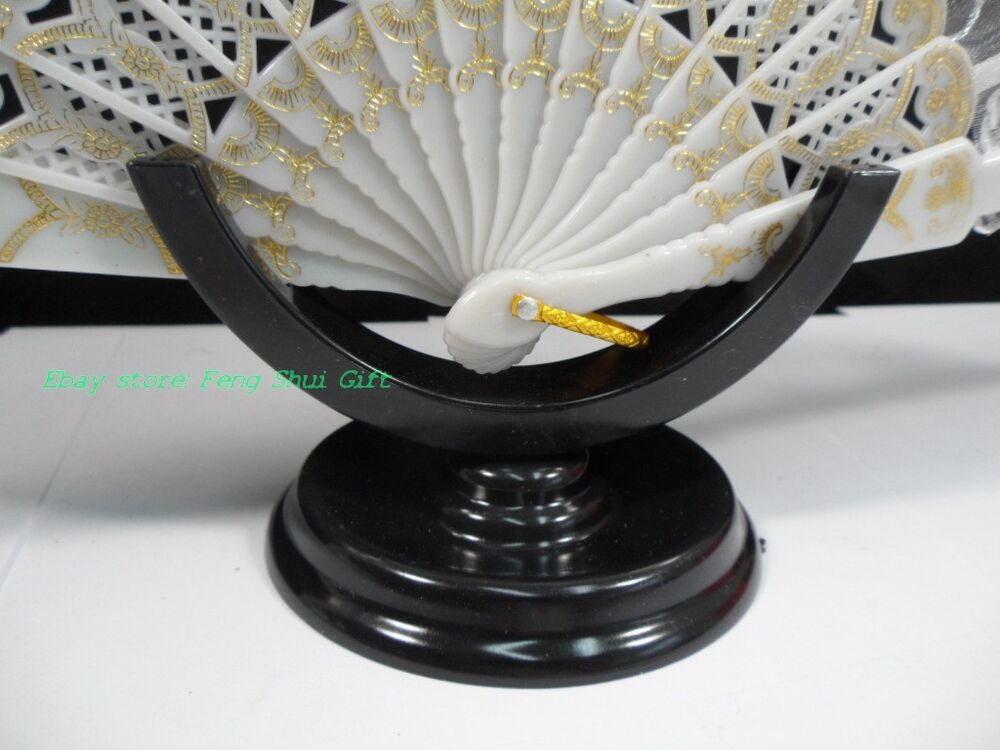 Chinese Fan Stand : Plastic chinese hand wood silk paper lace folding fan
