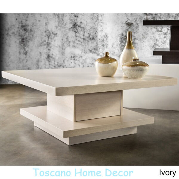 Modern Coffee Table Wood Contemporary Storage Cabinet