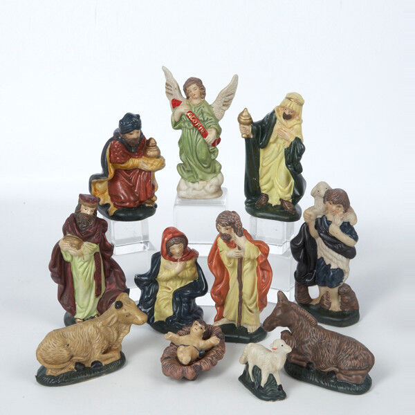 Kurt s adler ceramic piece nativity figurine set