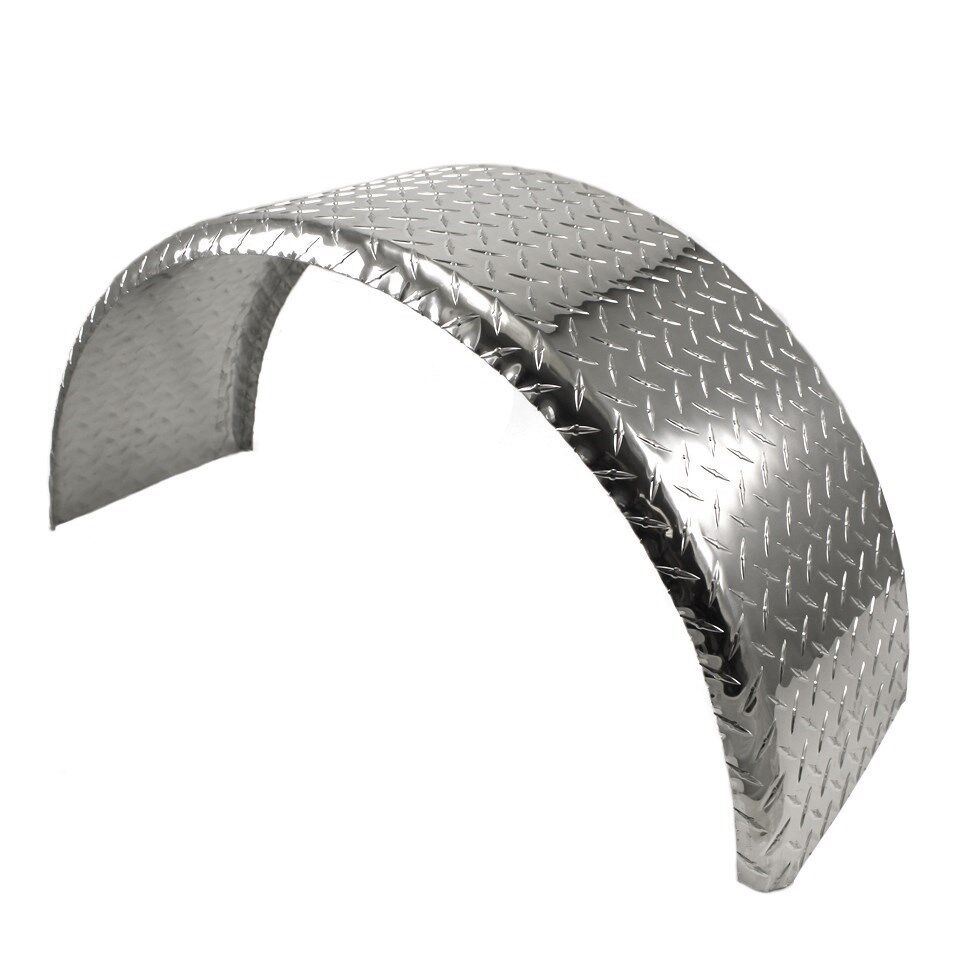 Trailer Fenders With Backing Plate : Aluminum tread plate trailer fender single axle
