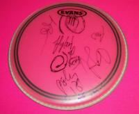 FLYLEAF X5 SIGNED DRUMHEAD WITH SKETCH EXACT PROOF