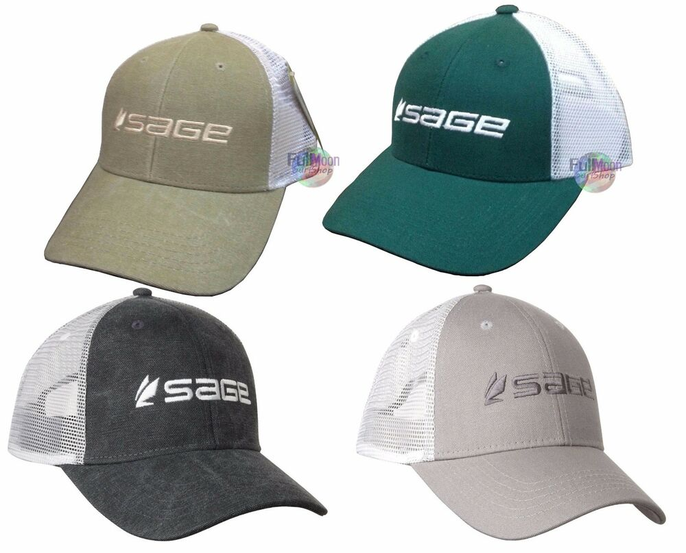 New sage fly fishing trucker style hat ebay for Fishing trucker hats