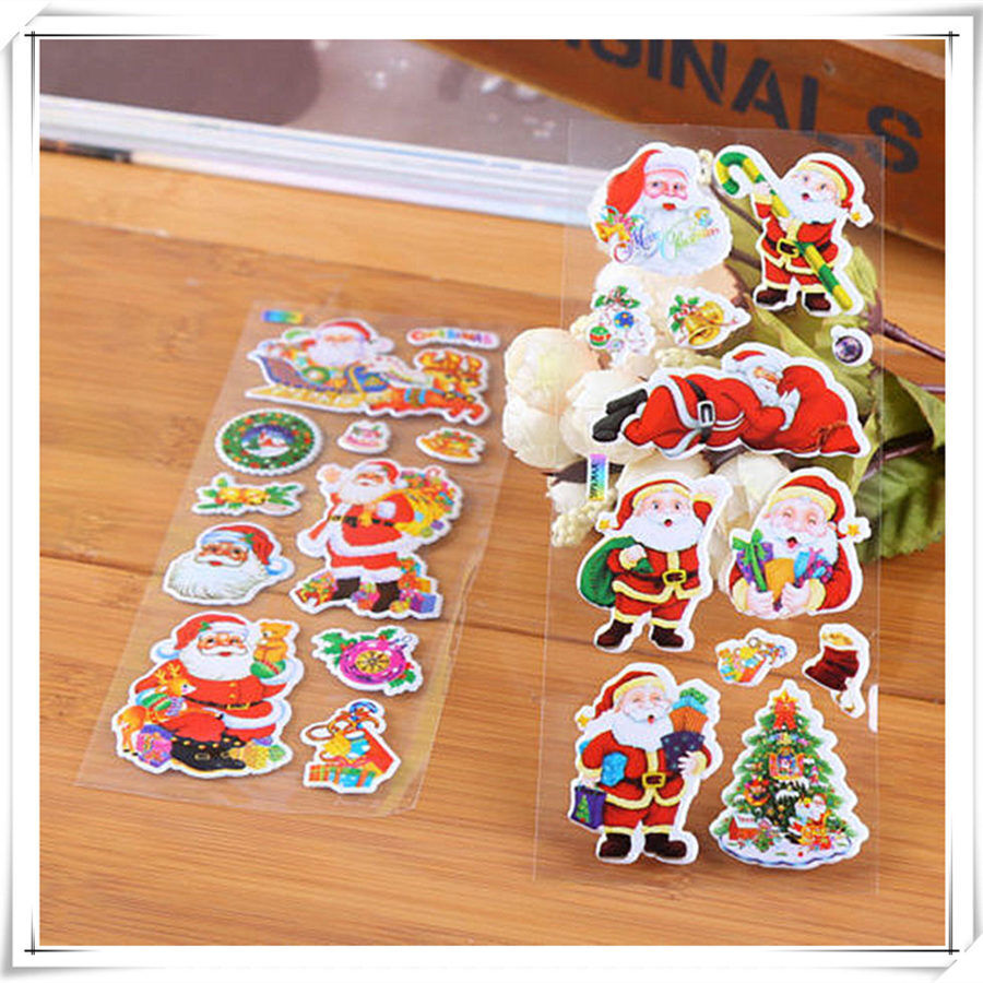 10 sheet christmas cartoon bubble sticker home decoration for Crafts that sell on ebay