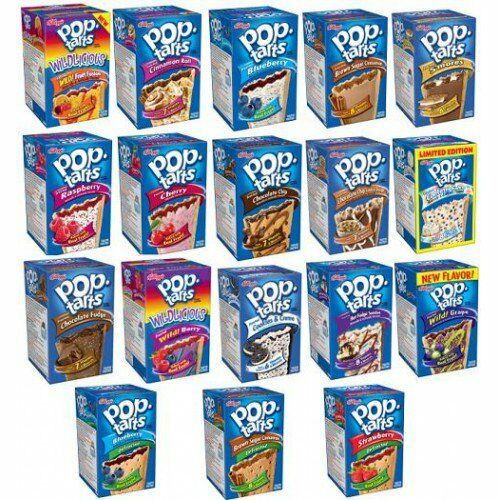 KELLOGG'S POP TARTS TOASTER PASTRIES Frosted or Unfrosted ...