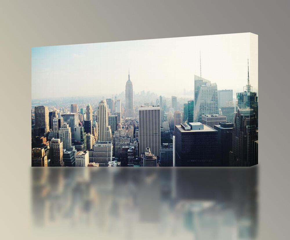 new york manhattan skyline canvas print wall decor giclee ny 4 sizes ca54 ebay