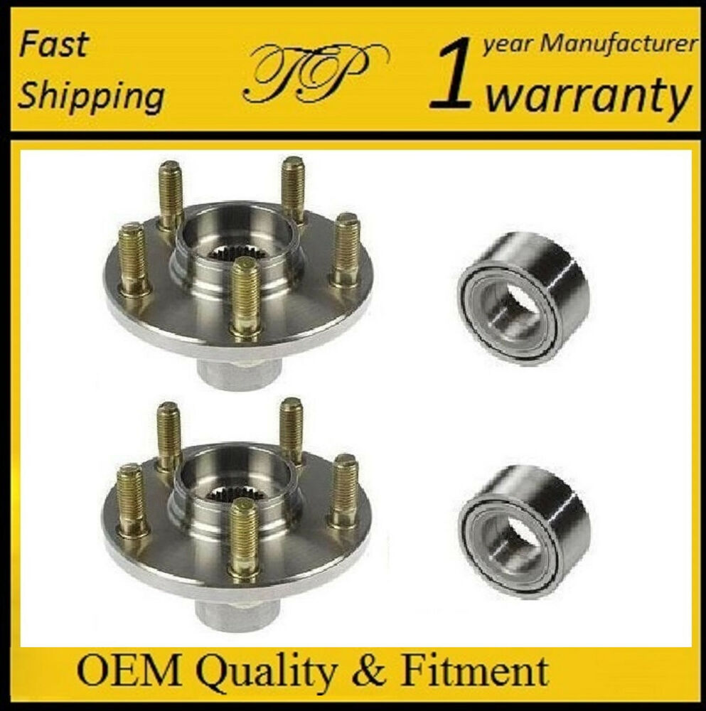 2008 2011 Honda Accord Front Wheel Hub Amp Bearing Kit Pair