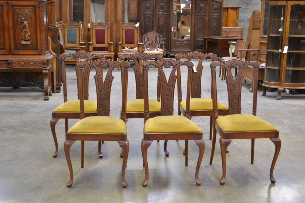 Queen Anne Chair History ... : SET OF SI...